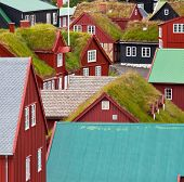 picture of faroe islands  - Vintage style of Faroe islands - JPG