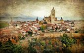 Segovia,Spain, artistic retro styled picture