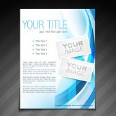 stock photo of booklet design  - vector stylish brochure flyer poster template design - JPG