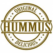 image of peculiar  - Stamp with word hummus inside - JPG