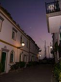 stock photo of nightfall  - nightfall in Puerto de Mogan at Gran Canaria - JPG