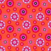 stock photo of motif  - Ethnic pattern in bright color with stylized flowers - JPG