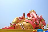The Biggest Ganesha Statue In Temple,thailand.