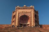 pic of darwaza  - The famous entrance at Faterpur sikri Agra - JPG
