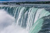 image of glorious  - The view of the Niagra falls from the canadian side on a beautiful sunny day in Ontario Canada - JPG