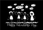 stock photo of  friends forever  - Happy Friendship Day and Best Friends Forever idea design - JPG