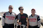 LOS ANGELES - MAR 15:  Eric Braeden, Adrien Brody, Dr. William Pinsky at the Toyota Grand Prix of LB