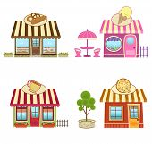 stock photo of planters  - Cute bakery - JPG