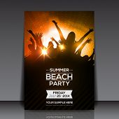 picture of beats  - Summer Beach Party Flyer  - JPG
