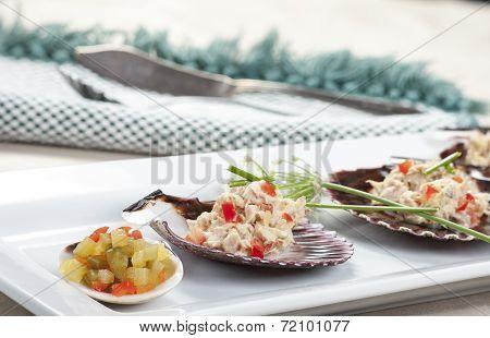 Closeup Of Relish And Tuna Salad.