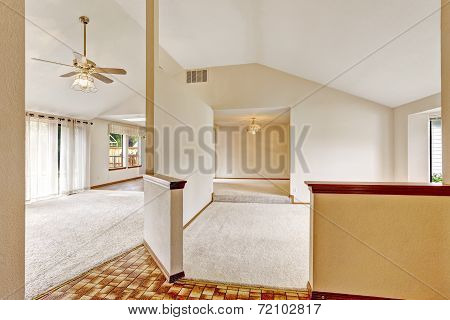 Empty House Interior In Ivory Tones