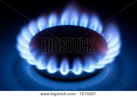 Methane Flames At Kitchen Cooker