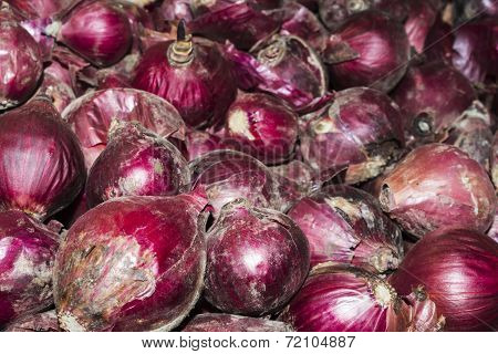 Red moldy onions