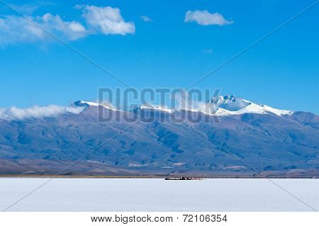 Salinas Grandes, Andes, Argentina Is A Salt Desert In The Jujuy Province. More Significantly, Boliva