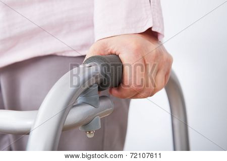 Senior Woman With Walking Frame