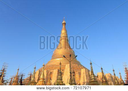 Golden Buddhist Temple In Myanmar.