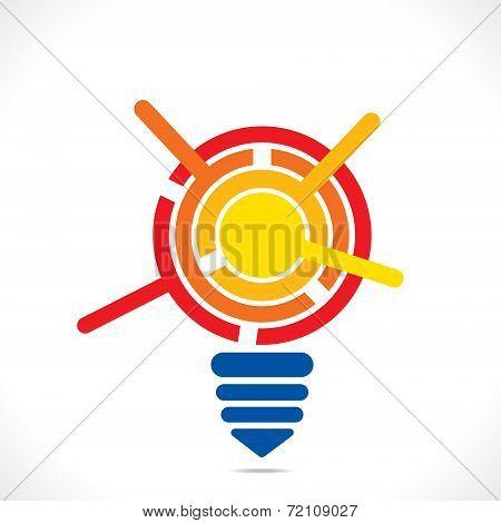 creative bulb info-graphics design background vector