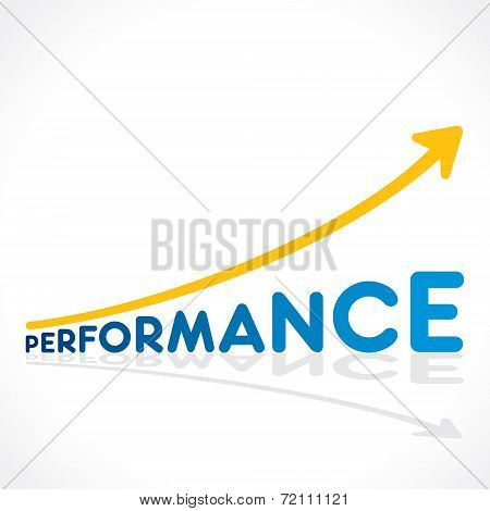 creative performance word growth graph vector