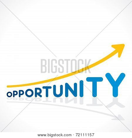 Gcreative opportunity word graph design vector