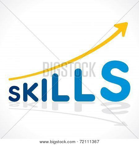 creative skills word growth graph vector