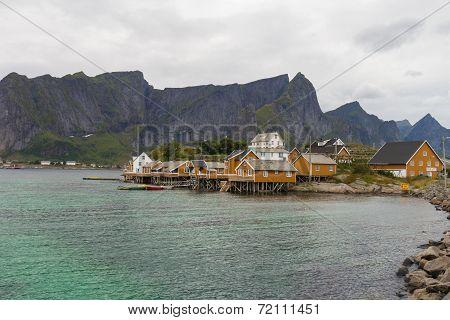 Typical Norwegian Fishing Village