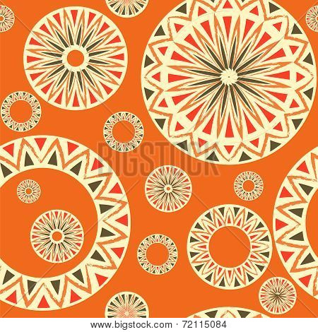 seamless pattern with  elements of Russian ornaments