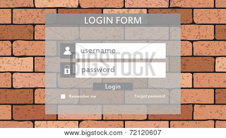 Modern login form for website