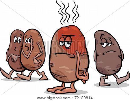 Hot Potato Saying Cartoon