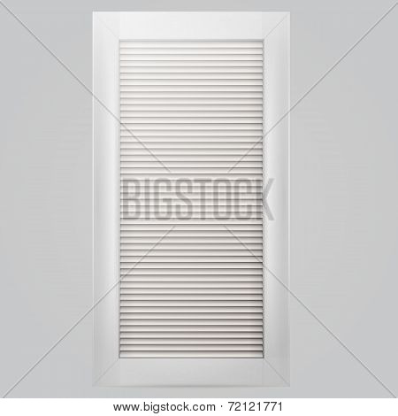Vector illustration of white window shutter