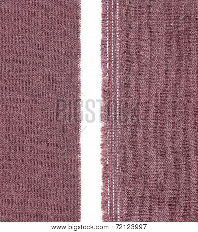 Fabric Isolated On White With Seam
