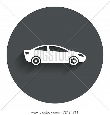Car sign icon. Sedan saloon symbol.