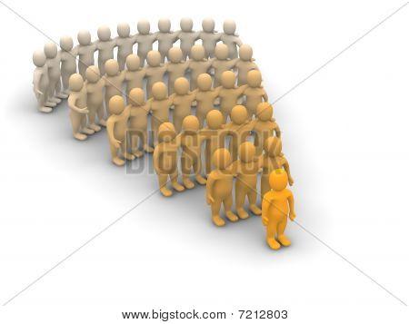 Führer und Team-Hierarchie