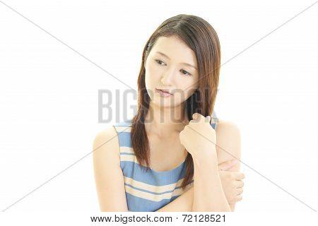 Women uneasy look
