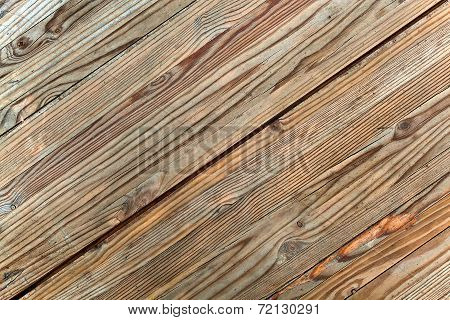 Old Wooden Wall , Frontal  View