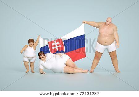 Slovakia obesity concept
