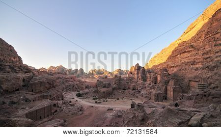 Petra, Jordan At Sunset