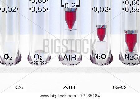 Medical Device. Gas Rotameter.