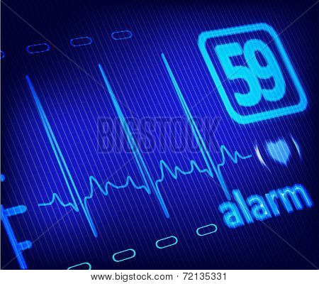 Ecg Alarm On Medical Monitor