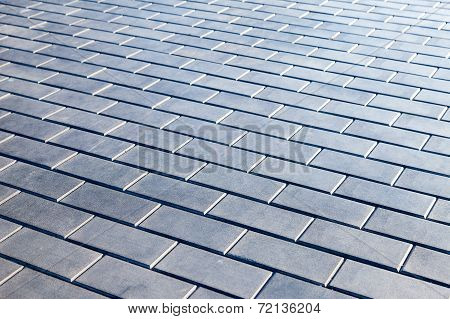 Grey Paving Stones As Background