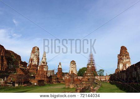 Ancient Buddha Statues At Wat Mahathat
