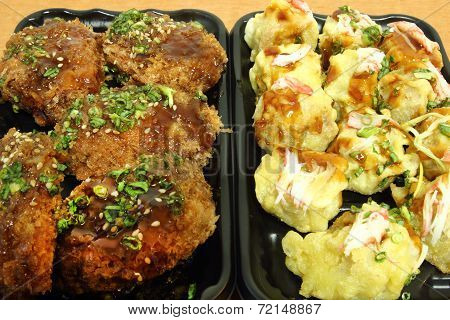 Chicken Milanese With Teriyaki Sauce And Japanese Dumplings