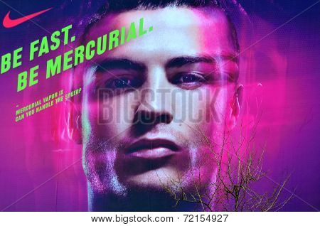 Cristiano Ronaldo publicity sign
