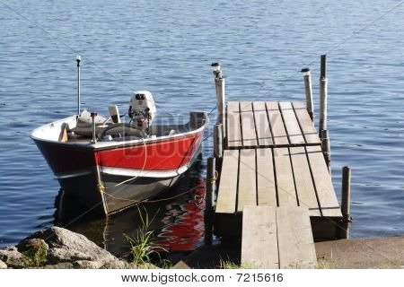 fishing boat parked at dock