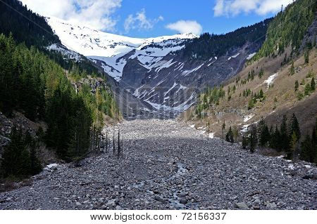 Nisqually River in the Mt Rainier National Park