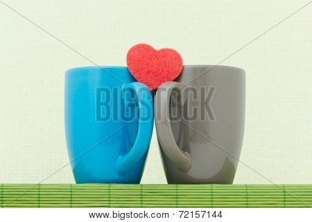 Two Color Cups And Heart