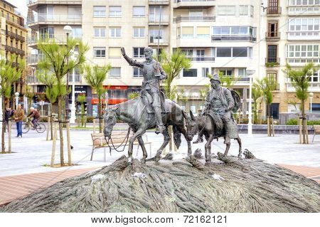 San-sebastian. Fountain Of Don Quixote De La Mancha