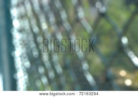 Defocused  In Fence