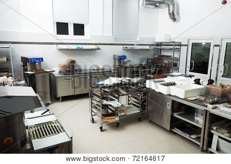 Workshop for production of chocolate products