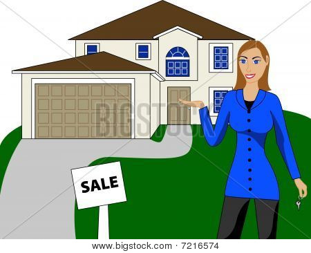 Real Estate House Woman
