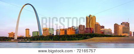 Panorama Of St Louis Skyline
